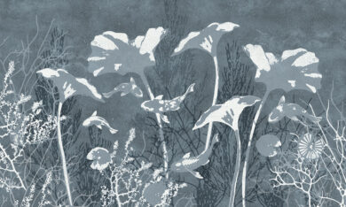 Silver Depth tapeta na wymiar Byzantine Splendor