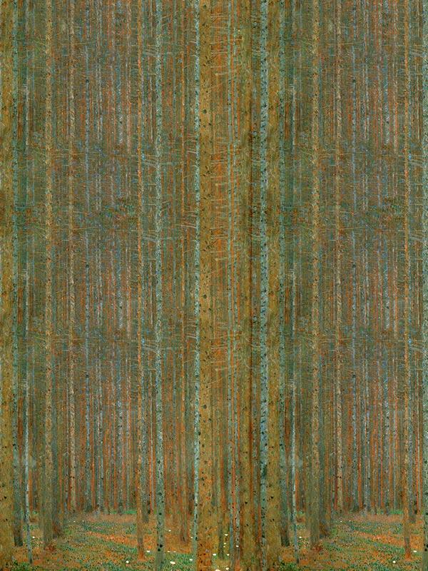 Pine Foresr Klimt tapeta na wymiar Byzantine Splendor