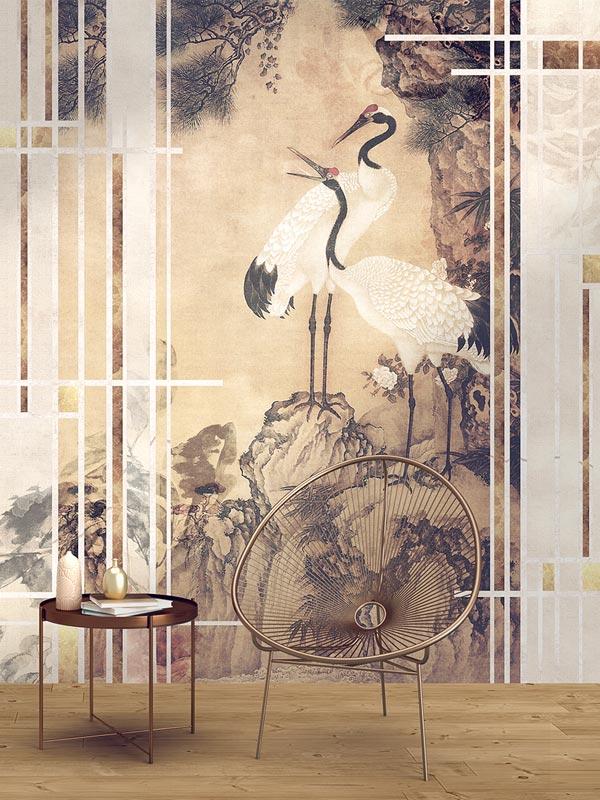 Nippon Żurawie tapeta na wymiar Byzantine Splendor sypialnia salon