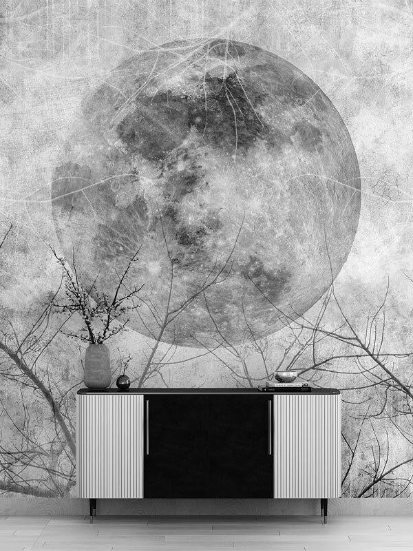 Tapeta na wymiar z księżycem