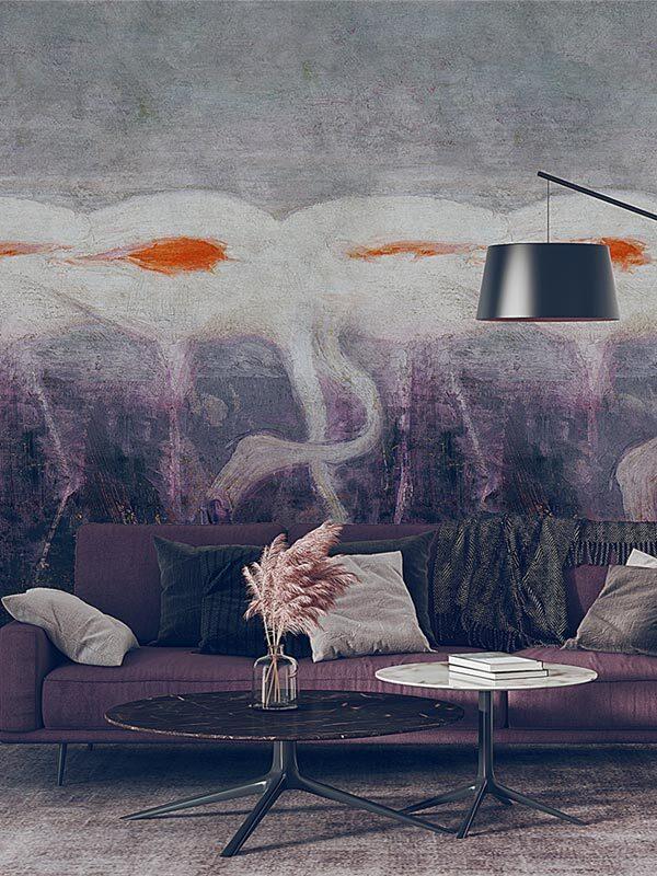 tapeta na wymiar z flamingami