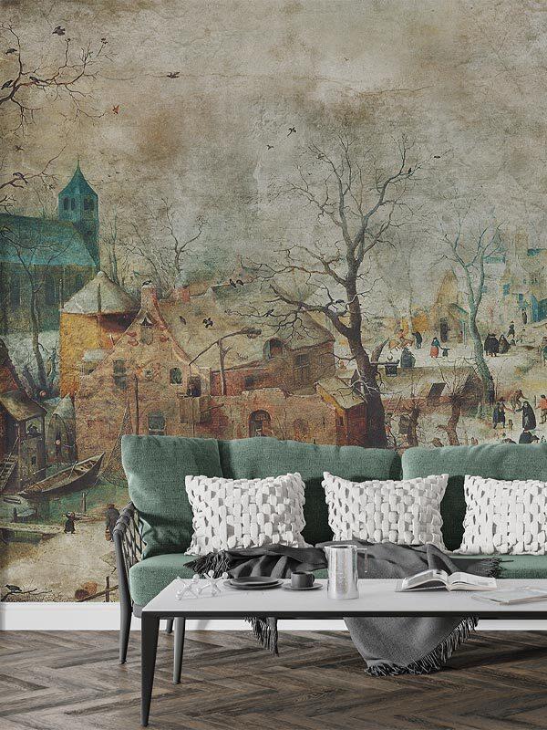 tapeta na wymiar malarstwo vinatge salon