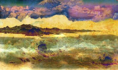 Tapeta z motywem japońskim kolor2