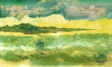 tapeta z motywem japońskim kolor 3